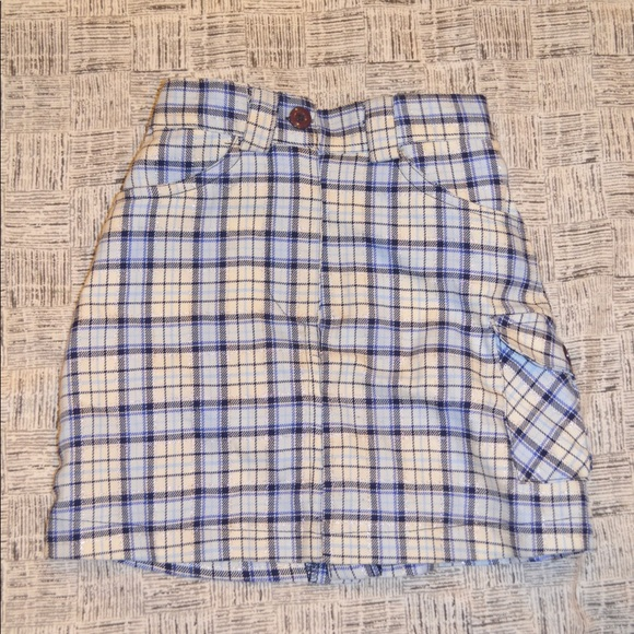 The Children's Place Other - The Children's Place Blue and White Plaid Skirt